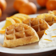 Orange fruit waffles — Stock Photo #9928172