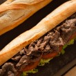 Close up sandwich beef — Stock Photo