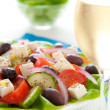 Greek salad dinner - Stock Photo