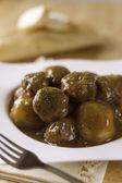 Meatball wieprzowina z ziemniaków — Zdjęcie stockowe