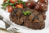 Filet mignon cooked — Stock Photo