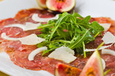 Macro horizontal carpaccio — Stock Photo