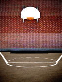 Empty basketball court — Stock Photo