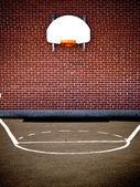 Empty basketball court — Stock Photo