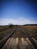 Rail train abandoned — Stock Photo