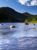 Stone and rock river view — Stock Photo