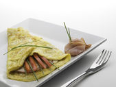 Einfach Omelette — Stockfoto