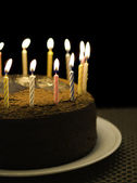 Happy birthday candle — Stock Photo