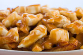 Macro poutine — Stock Photo