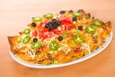 Nachos on table wood — Stock Photo