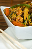 Stir fried with vegetable and shrimp — Stock Photo