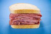 Smoked meat beef sandwich — Stock Photo