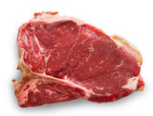 T-bone cut beef isolated on white — Stock Photo