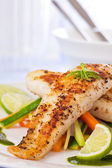 Healthy fish pangasius meal — Stock Photo