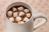 Hot chocolate mushmallow — Stock Photo