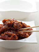 General tso chicken meal — Stock Photo