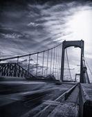 Black and white bridge — Stock Photo