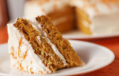 Carrot cake horizontal — Stock Photo