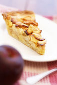 Apple pie on a plate — Stock Photo