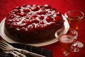 Chocolate cheesecake cake horizontal — Stock Photo