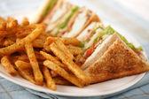 Simple club sandwich — Stock Photo