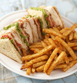 Classic club sandwich — Stock Photo