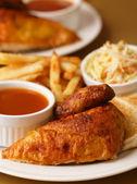 Chicken roast quarter meal — Stock Photo