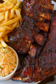 Close up pork ribs back — Stock Photo