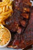 Close up pork ribs back — Stock Photo