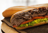 Beef sandwich — Stock Photo