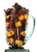 Frozen fruit in a pitcher — Stock Photo
