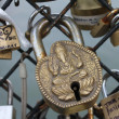 Cadenas amour love locks Paris 3 - Foto de Stock