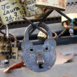 Cadenas amour love locks Paris 2 - Foto de Stock