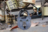 Cadenas amour love locks Paris 2 — Stock Photo