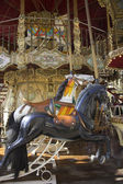 Carrousel manège old merry-go-round black paris — Stock Photo