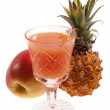 Fruit juice and fruits — Stock Photo