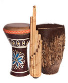 African ethnic musical instruments — Stock Photo