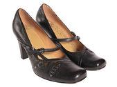 Svarta skor för affärskvinna — Stockfoto
