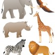 African animals — Stock Vector #10026565