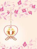 Vögel in der Liebe. — Stockvektor