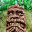 Stock Photo: Demonic wood-mask