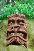 Demonic wood-mask — Stock Photo