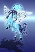 Blue Pegasus — Stock Photo