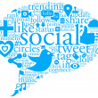 Social Talk Bubble - Foto Stock