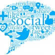 Social Talk Bubble - Stockfoto