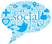 Social Talk Bubble — Stock Photo