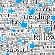 Social Networking Background - Stock Photo