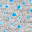 Stockfoto: Social Networking Background