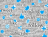Social Networking Background — Stock Photo