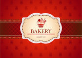 Bakery card — Stock Vector